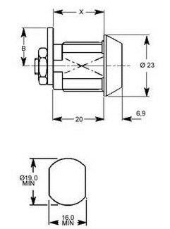tekening cilinderslot